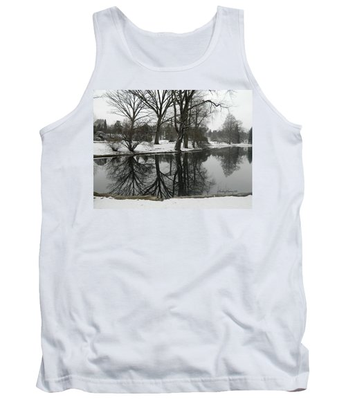 Reflection Pond Spring Grove Cemetery Tank Top by Kathy Barney
