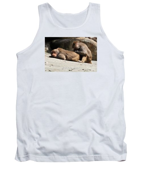 Tank Top featuring the photograph Relax Time by Simona Ghidini