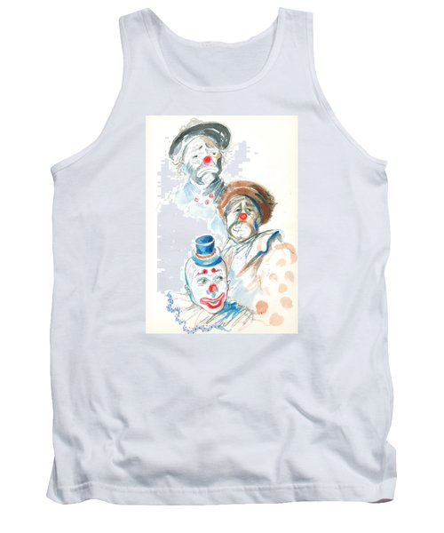 Remember The Clowns Tank Top by Mary Armstrong