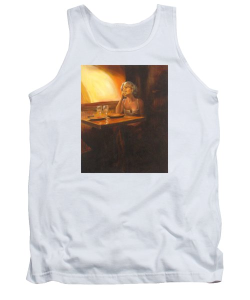 Rendevous At The Indian Restaurant Tank Top by Connie Schaertl