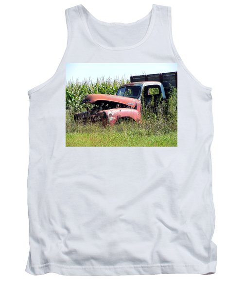 Tank Top featuring the photograph Retired by Deb Halloran