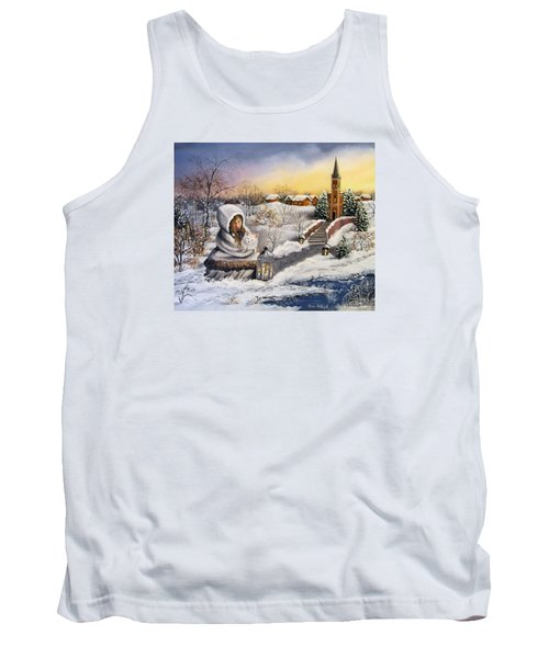 Tank Top featuring the painting Return by Vesna Martinjak