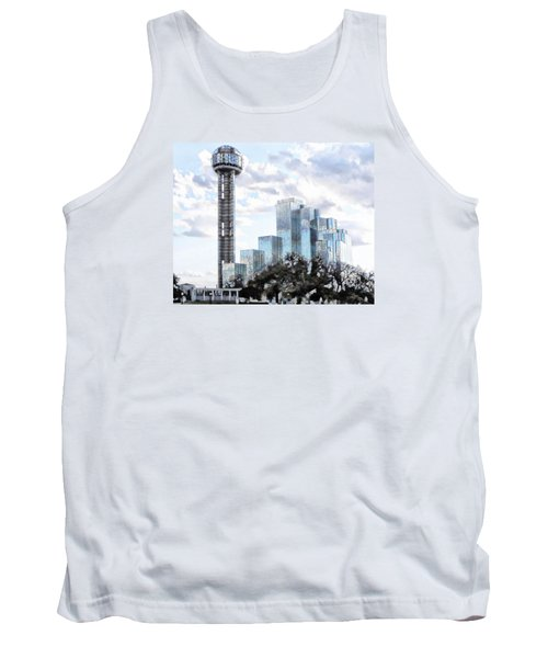 Tank Top featuring the photograph Reunion Tower Dallas Texas by Kathy Churchman