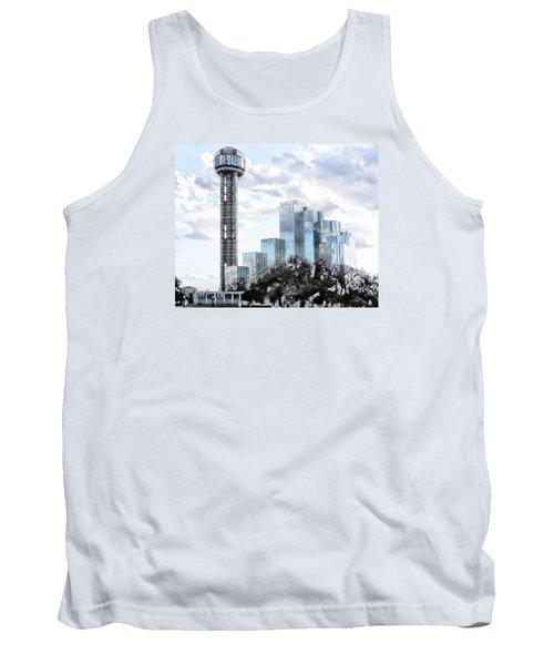Reunion Tower Dallas Texas Tank Top by Kathy Churchman
