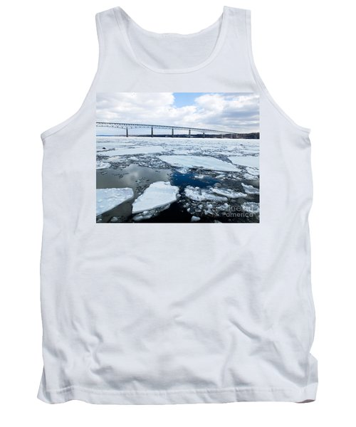 Rhinecliff Bridge Over The Icy Hudson River Tank Top