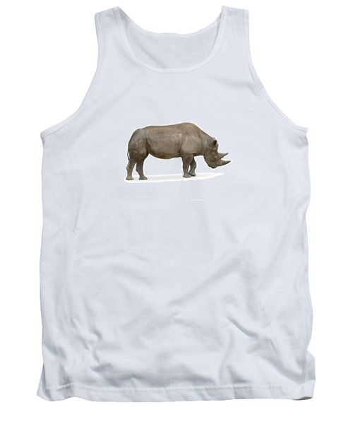 Tank Top featuring the photograph Rhinoceros by Charles Beeler
