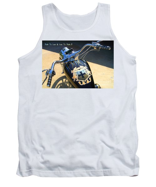 Ride To Live  Tank Top