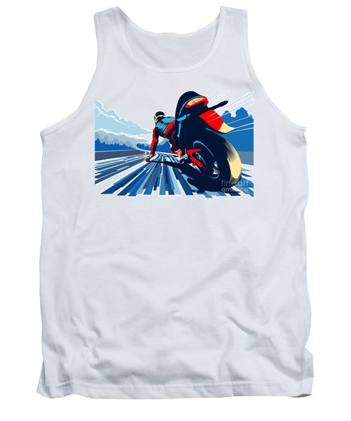 Riding On The Edge Tank Top