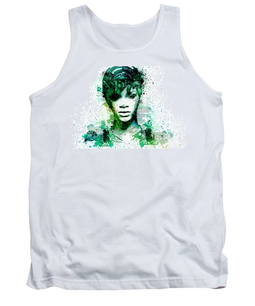 Rihanna 5 Tank Top by Bekim Art