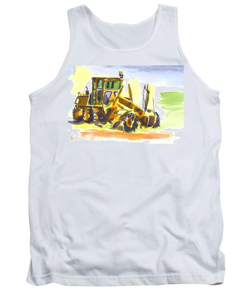 Roadmaster Tractor In Watercolor Tank Top