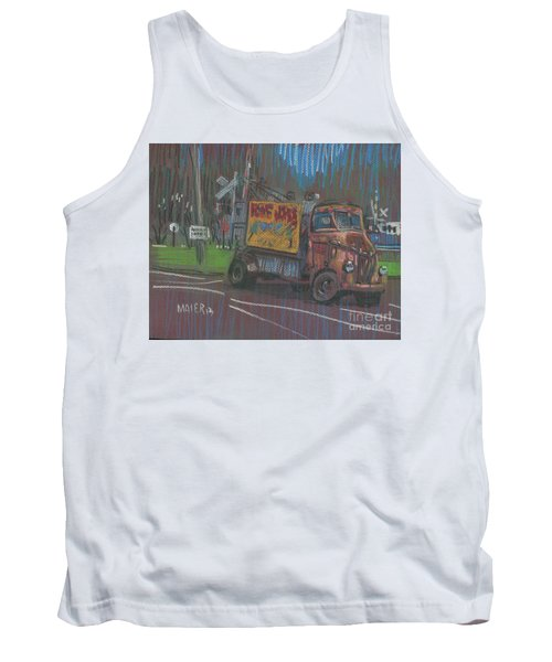 Tank Top featuring the painting Roadside Advertising by Donald Maier