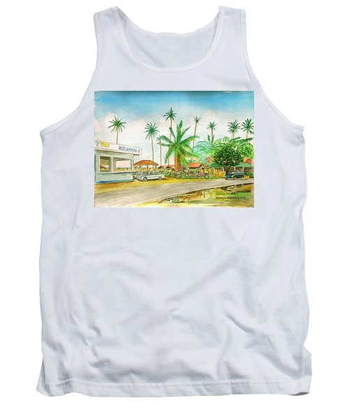 Roadside Food Stands Puerto Rico Tank Top by Frank Hunter