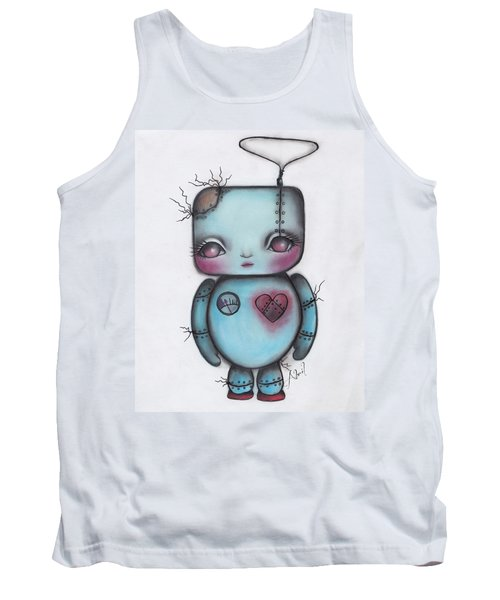 Robot Tank Top by Abril Andrade Griffith
