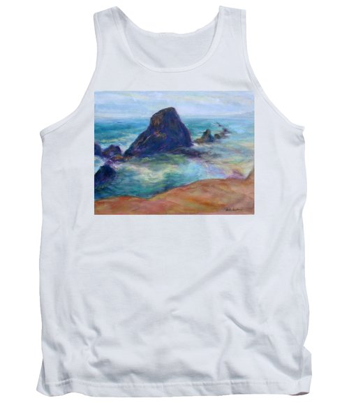 Rocks Heading North - Scenic Landscape Seascape Painting Tank Top