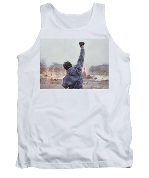 Tank Top featuring the painting Rocky Balboa by Dan Sproul