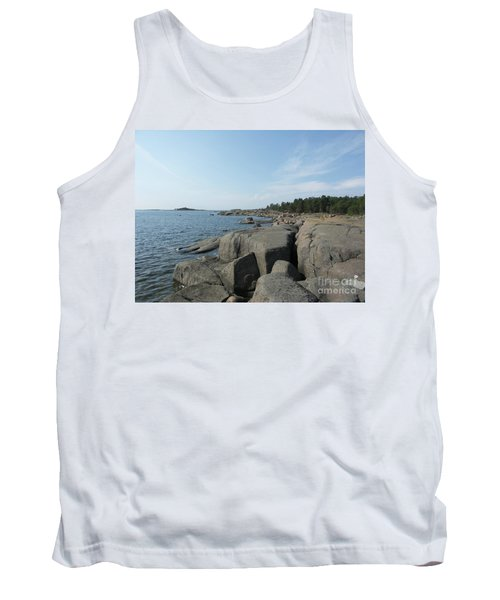 Rocky Seashore 2 In Hamina  Tank Top
