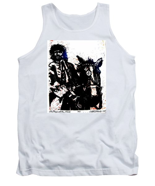 Tank Top featuring the relief Rogue Of The Road by Seth Weaver
