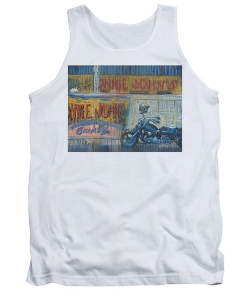 Tank Top featuring the painting Ronnie's Bike by Donald Maier