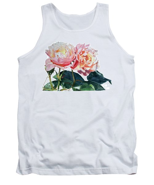 Pink And Yellow Rose Anne Tank Top