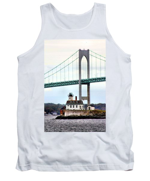 Rose Island Lighthouse Tank Top by Kristin Elmquist