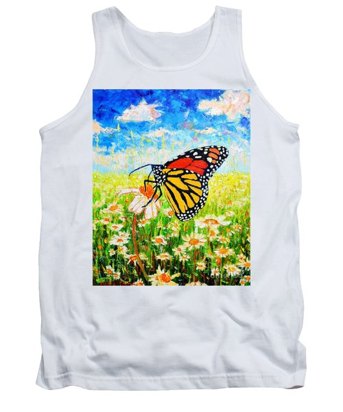 Royal Monarch Butterfly In Daisies Tank Top