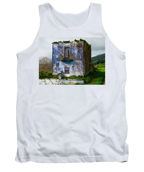 Ruins Of House Painted Blue Tank Top