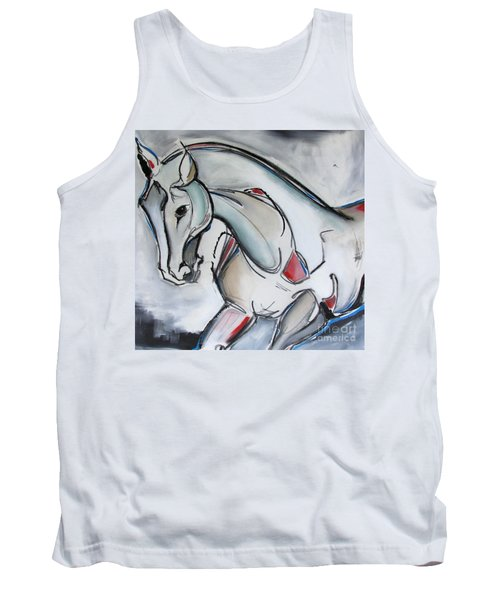 Tank Top featuring the painting Running Wild by Nicole Gaitan