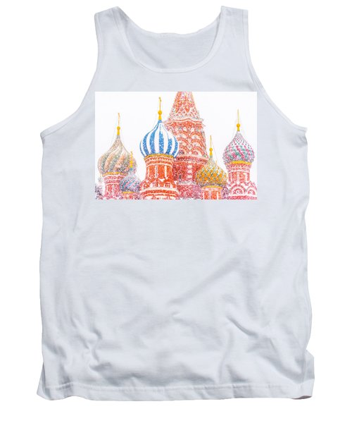 Russian Winter Tank Top by Alexander Senin