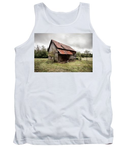 Tank Top featuring the photograph Rusty Tin Roof Barn by Gary Heller