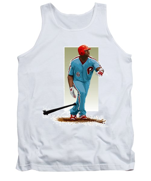 Tank Top featuring the digital art Ryan Howard by Scott Weigner