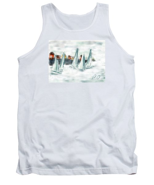Sail Away With Me Tank Top by Patricia Olson
