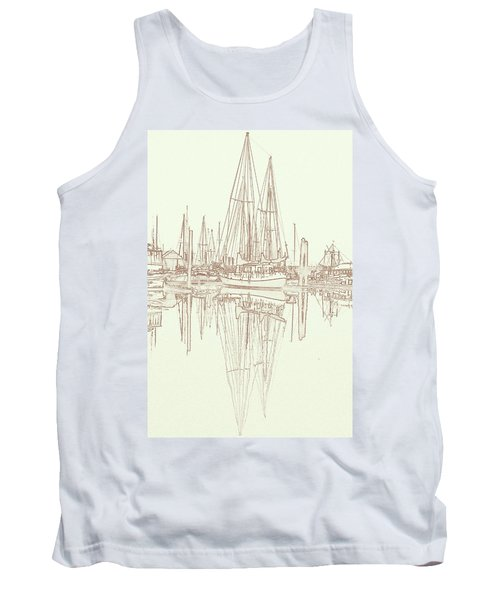 Tank Top featuring the photograph Sailboat On Liberty Bay by Greg Reed