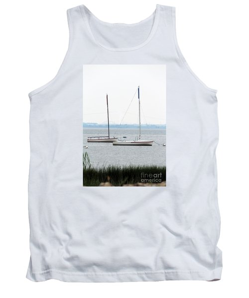 Sailboats In Battery Park Harbor Tank Top by David Jackson