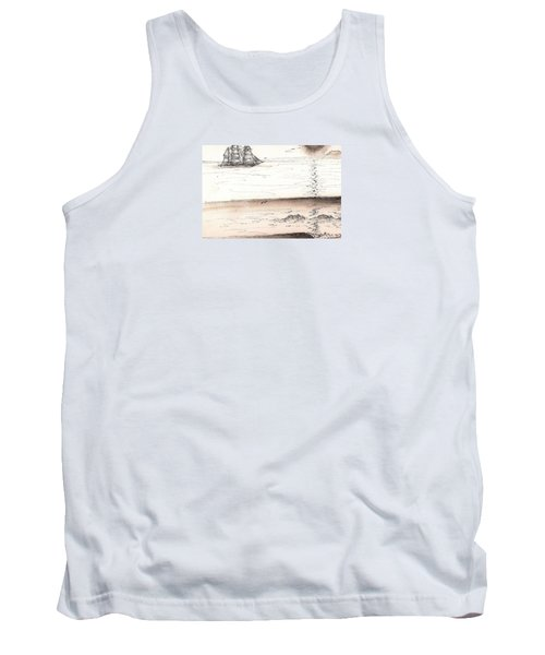 Sailing Into The Past Tank Top