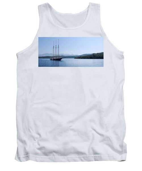 Sailing Ship In The Adriatic Islands Tank Top