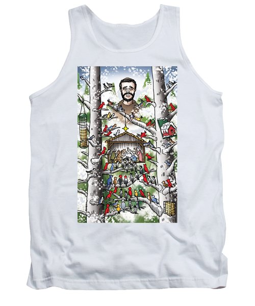 St. Francis And The Birds Tank Top