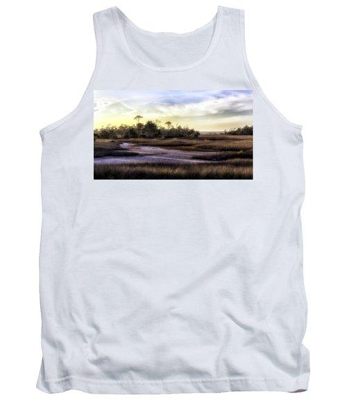 Saint Marks Wetland Sunset Tank Top