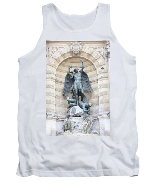 Saint Michael The Archangel In Paris Tank Top