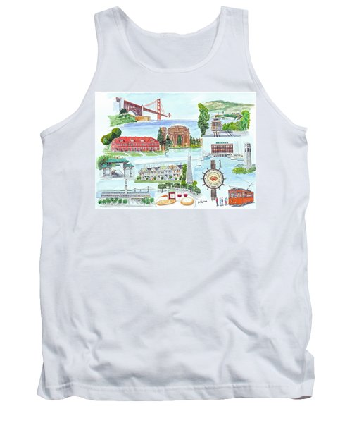 San Francisco Highlights Montage Tank Top
