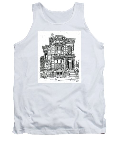 San Francisco Victorian   Tank Top by Ira Shander