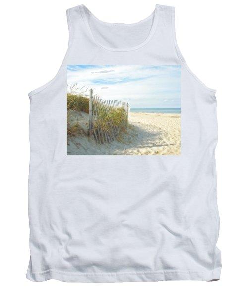 Sand Beach Ocean And Dunes Tank Top by Brooke T Ryan