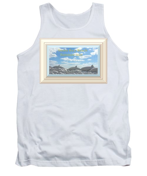 Sand Dolphins - Digitally Framed Tank Top