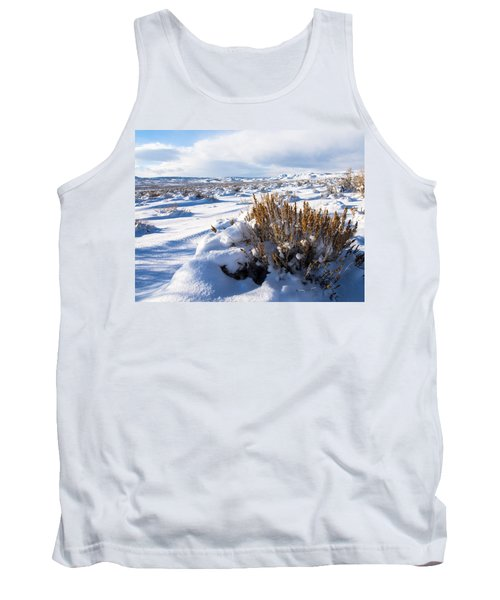 Sand Wash Basin In The Winter Tank Top by Nadja Rider