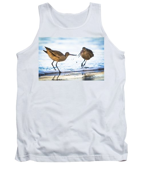Sanderlings Playing At The Beach Tank Top