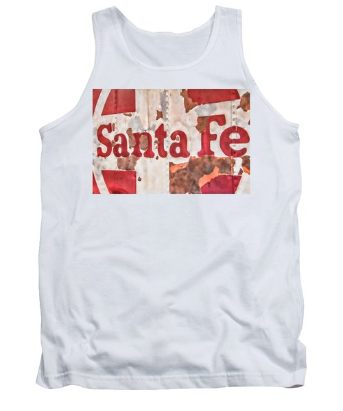 Santa Fe Vintage Railroad Sign Tank Top