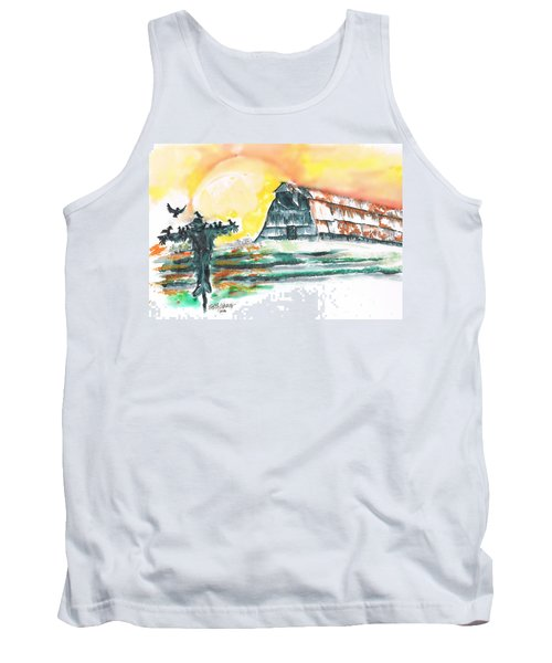 Scarecrow Welcomes The Morning Tank Top by Seth Weaver