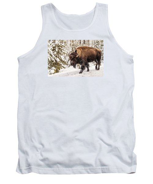 Scary Bison Tank Top by Sue Smith