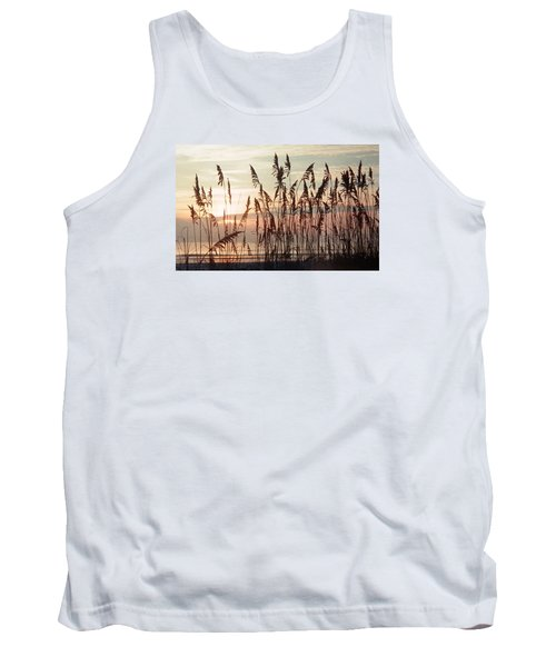 Spectacular Sea Oats At Sunrise Tank Top by Belinda Lee