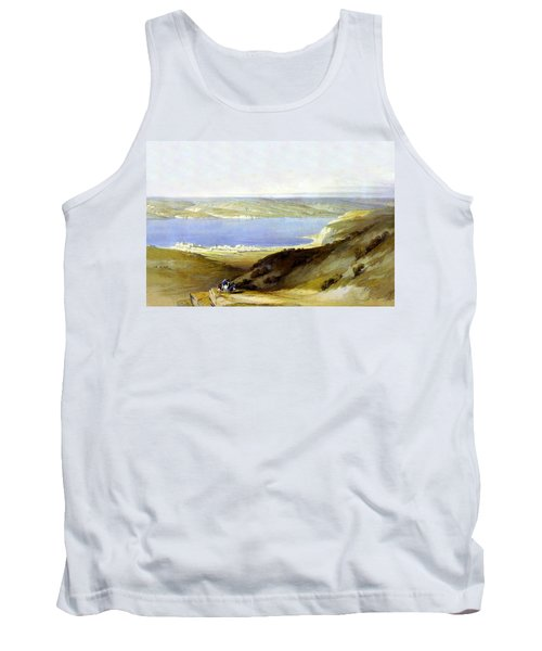 Sea Of Galilee Tank Top by Munir Alawi