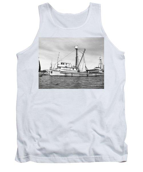 Purse Seiner Sea Queen Monterey Harbor California Fishing Boat Purse Seiner Tank Top